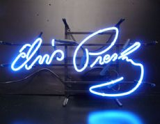 Elvis Signature Neon Sign